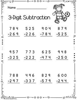 3 Digit Addition And Subtraction With Regrouping Addition And Subtraction Worksheets Subtraction Worksheets Kindergarten Subtraction Worksheets