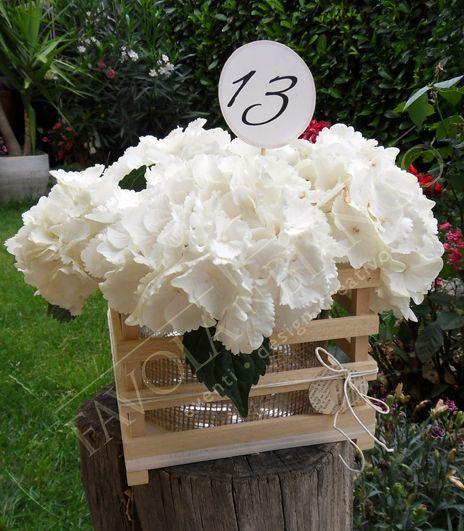Wedding Details - Segnatavolo lecca-lecca di legno con numero del tavolo da mettere direttamente dentro nel centrotavola