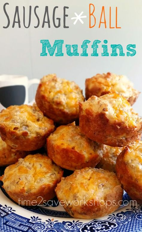 hot breakfast recipes: sausage ball muffins