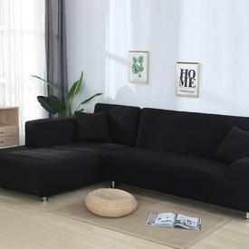 Black Waterproof Sofa Slipcover In 2020 Corner Sectional Sofa Corner Sofa Covers Sofa Covers