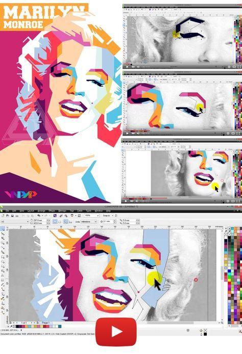 Video Tutorial Retrato Wpap Con Coreldraw Graphic Design In 2019