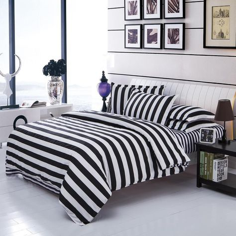 a5599b7fef UNIKEA Double Color Bedding Sets Cotton Black White Style Bed Linen Quilt  Cover Sheet 3/4 Twin Queen Beds. Yesterday's price: US $32.86 (28.22 EUR).