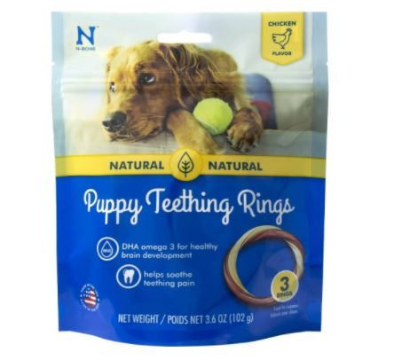 N Bone Puppy Dog Chicken Teething Rings Usa 3ct Puppy Teething
