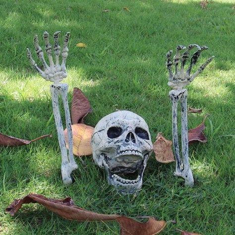 Buried Alive Skeleton Skull Halloween Decoration
