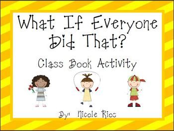 This Back to School writing activity will help students see how the actions of one person can affect everyone else in the classroom. This is one of six great community building activities in this pack.