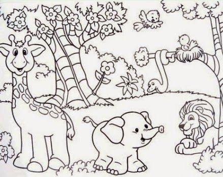 Desenhos Para Imprimir E Colorir Floresta Animais Para Colorir