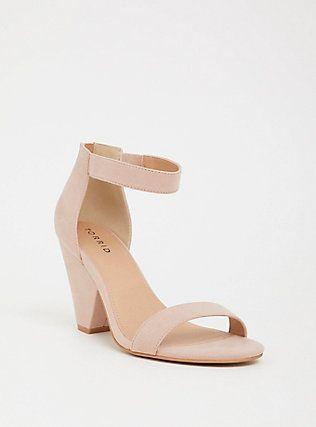Blush Ankle Strap Cone Heel (Wide Width