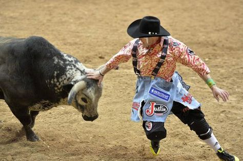Last night of the rodeo. Let's look back on the best photos! Bull fighter wrangling the angry bull. See MORE pics here>> http://my.gactv.com/wrangler-national-finals-rodeo/gallery.esi?sortOrder=2&page=4