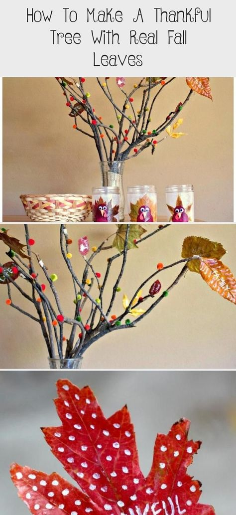 #creating #Decorating #Fall #Leaves #Real #Thankful #Thanksgiving Nature Crafts #Tree How to Make a Thankful Tree with Real Fall Leaves - Creating and decorating a gratitude tree, with autumn leaves, is a fun & fulfilling activity that both kids and adults will enjoy. Learn how to make your own Thanksgiving tree nature craft! | #Thanksgiving #ThanksgivingCraft