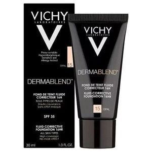 10 Foundations That Actually Work For Acne Prone Skin Dermablend Vichy Foundation Shades