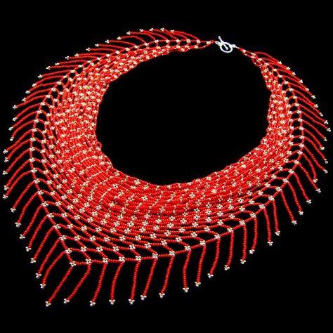 Beaded jewelry: necklace, bracelet, earrings, pendants by GiftShopFromElena