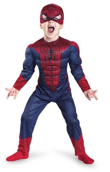 Spider-Man Muscle Shirt Mask Marvel Superhero Fancy Dress Up Halloween Costume