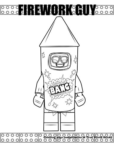 Coloring Page Firework Guy True North Bricks Lego Movie Coloring Pages Lego Coloring Pages Coloring Pages