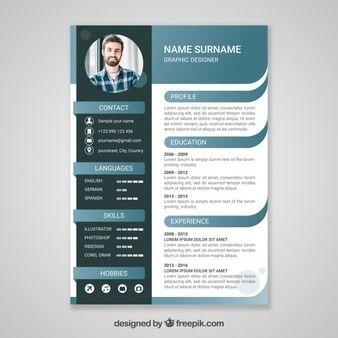 Cv Template Vectors Photos And Psd Files Free Download Curriculum Template Resume Design Template Cv Design Template