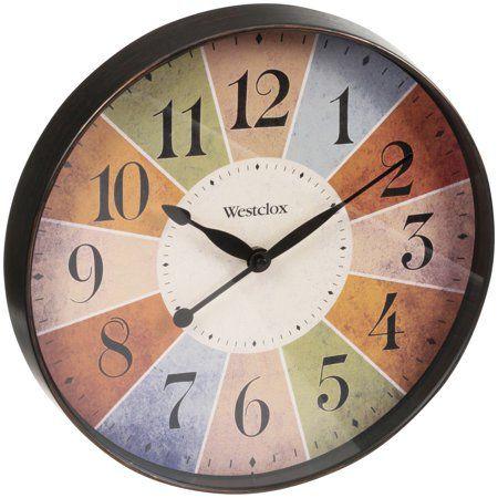 32897 12 Multicolor Dial Wall Clock Walmart Com Clock Wall Clock Round Wall Clocks