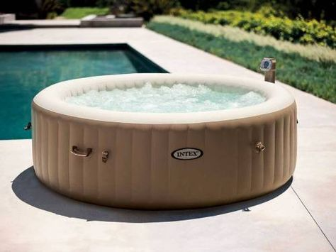 Spa Gonflable Intex 6 Places Beige Avec 140 Diffuseurs A Bulles