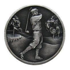NHK-130-AP Gentleman Golfer Knob Antique Pewter