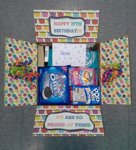 Birthday Care Package Filled With Cake Flavored Foods