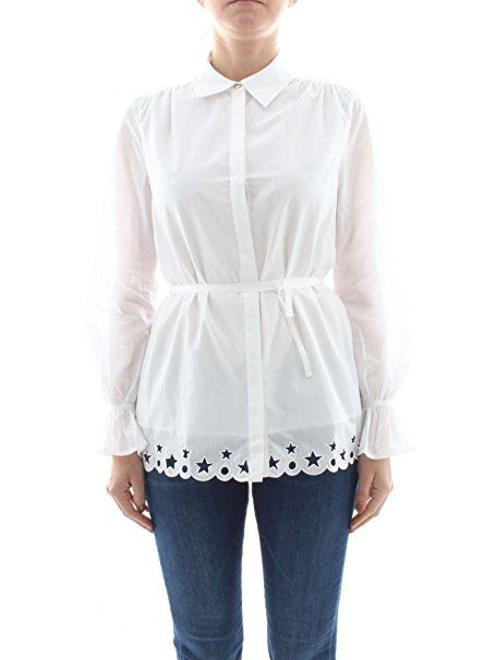 Tommy Hilfiger Damen Bluse Hayette Blouse Ls Weiss Classic White
