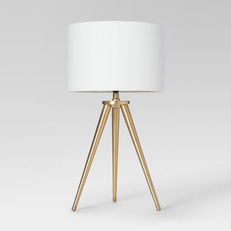 This slender tapered leg Project 62 Tripod Table Lamp