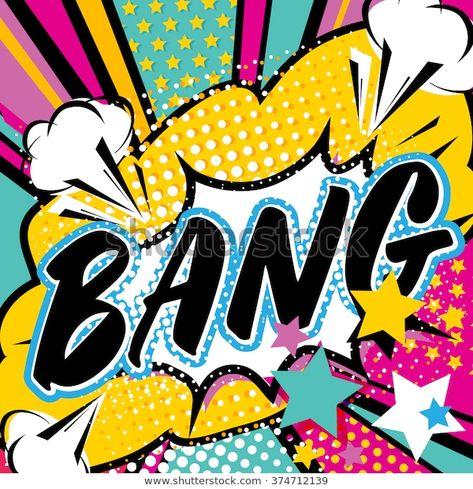 Pop Art Bang Quote Type Bang Stock Vector (Royalty Free) 374712139