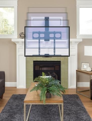 Mm540 Enhanced Pull Down Tv Mount Tv Over Fireplace Tv Above