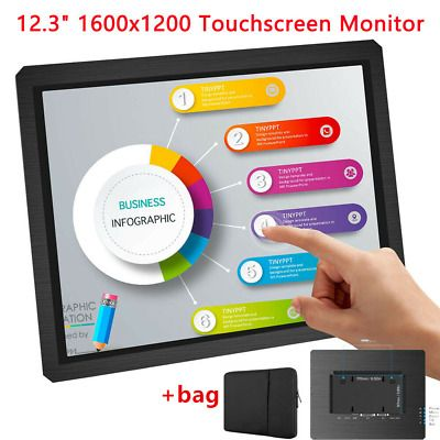 Sponsored 12 3 Inch Touchscreen Industrial Equipment Display With Bag 1600x1200 Hdmi Vga In 2020 Hdmi Touch Screen Vga