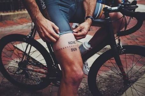 Sharp kit tan lines. The signs of a dedicated cyclist
