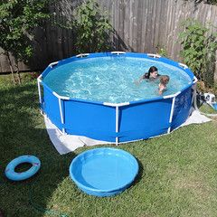 Wondering What To Put Under Intex Pools Choosing A Ground Cloth Or Other Material For Under Your Pool Can Le Best Above Ground Pool Intex Pool In Ground Pools