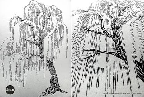 Line Drawing Grass : Art unit line drawing reflection u naomi s