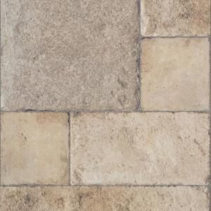 Innovations Tuscan Stone Sand 8 Mm Thick X 15 1 2 In Wide X 46 2 5 In Length Click Lock Laminate Flooring 20 02 Sq Ft Case 904067 The Home Depot Laminate Flooring Stone Laminate Laminate Tile Flooring