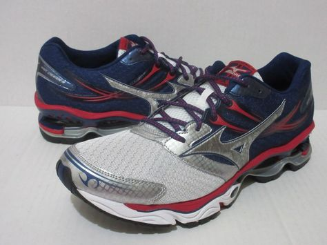 new concept 7d2ce 499a6 Wave Creation 14 Running Men s Sz.13 Red  White  Blue 8KN-30075  Mizuno   RunningShoes