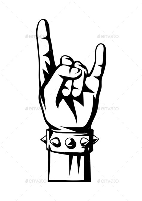Rock and Roll or Heavy Metal Hand Sign #Heavy, #Roll, #Rock, #Sign