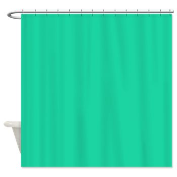 Caribbean Green Solid Color Shower Curtain By The Shower Curtain