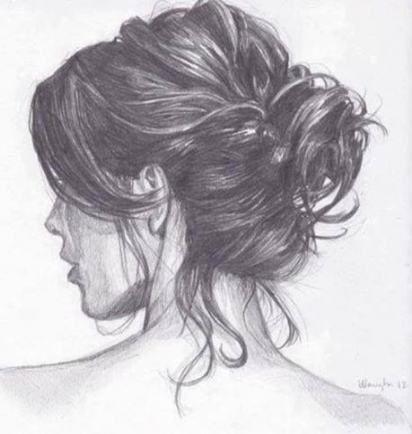 22 Ideas For Hair Drawing Messy Bun How To Draw Hair Bun Hairstyles Hair Sketch