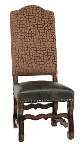 Hayley Brown Tuscan Side Chair Rustic Dining Room Chairs Wood