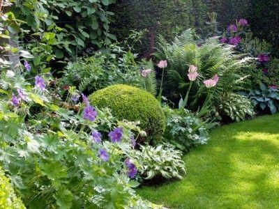 bißchen Farbe im (Halb-) Schatten Garten Pinterest Schatten - garten mit grasern gestalten