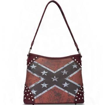 Pin On Rebel Flag Handbags And Wallets