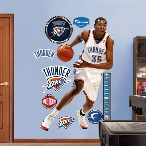 Fathead Kevin Durant Oklahoma City Thunder - Wall Sticker, Mural, & Decal Designs at Wall Sticker Outlet