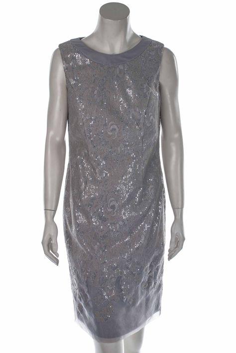 Cocktailkleid Pailletten Grau Elegante Abendkleider Mode Und Kleider
