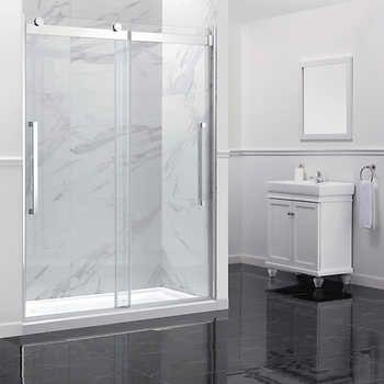 Ove Montebello 60 In Shower Door With Base Shower Doors Glass Shower Sliding Glass Door