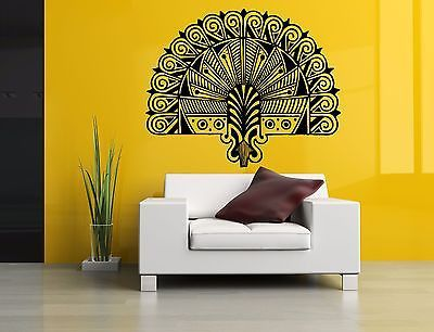 Wall Room Decor Art Vinyl Sticker Mural Decal Tribal Native Hand Fan ...