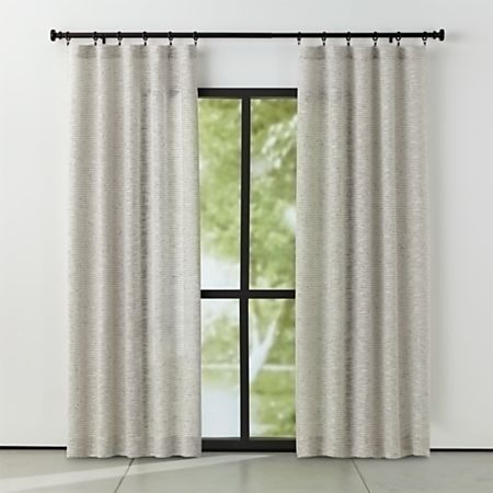Vesta Textured Curtain Panel 50x108 Reviews Crate And Barrel