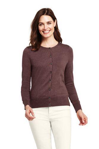 Lands End Womens Supima Cotton Cardigan Sweater