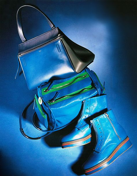 #MMissoni | LEATHER SHOULDER HANDBAG and GREEN & LEATHER ZIP ANKLE BOOTS | Winter 2014-2015 Collection | More, HK