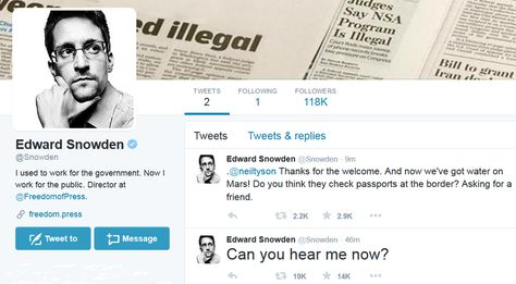 Can you hear me now?\': Edward Snowden joins Twitter   Edward snowden