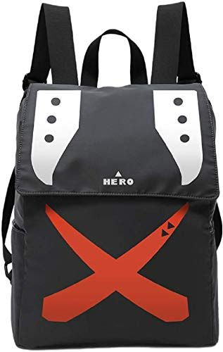 My Hero Academia Anime Bakugou Katsuki Cosplay Bags USB Port Backpack Schoolbag