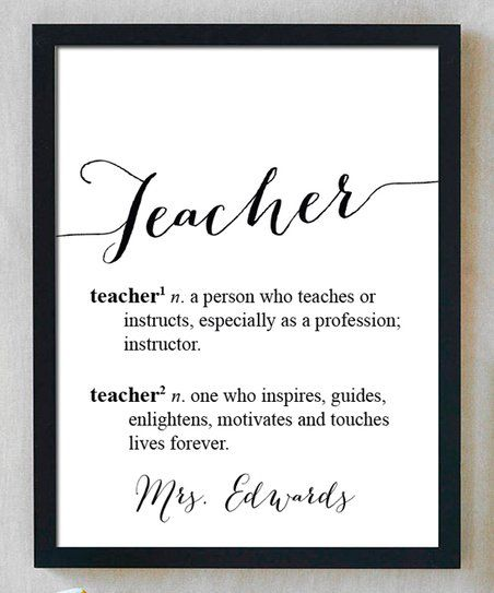 Celebrate A Favorite Teacher With This Pretty Personalized Print That Boasts A Heartwarming Mess Teacher Favorite Things Personalized Prints Teacher Definition