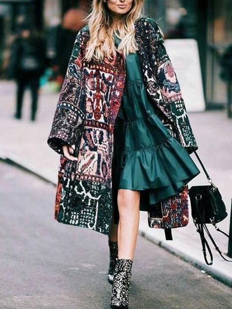 Load image into Gallery viewer, Fashion Embroidery Oversized Long Sleeves Cotton Coat