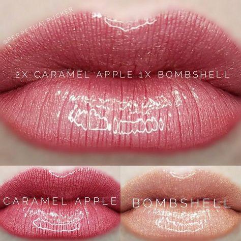 LipSense distributor #228660 @perpetualpucker Caramel Apple and Bombshell combo #SkinCareForBlackheads